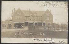 RP Postcard LODI OH  Early 1900's Taylor Tourist Inn & Drug Store #2 view 1906