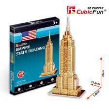 Puzzle 3D de EMPIRE STATE BUILDING CubicFun  24 Piezas !Nuevo¡ j300