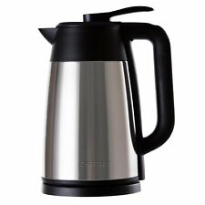Electric Kettle Cordless Temp Display Stainless Steel 1.7 Liter Chefman