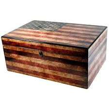 "Humidor Supreme ""Old Glory"" Patriotic American Flag 100 Cigar Humidor"