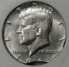 1968 D NGC MS63 Double Clips Silver Kennedy Half Dollar Mint Error Rare Date