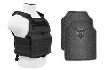 Body Armor | Bullet Proof Vest | AR500 Steel Plates | Base Frag Coating- PC BLK