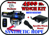 4500 Mad Dog Synthetic Winch/Mount- 2018-2020 Polaris RZR 1000 XP High Lifter