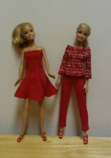 Sparkle Girlz Long Sheer Sleeve Print Top Shirt fits Barbie Doll