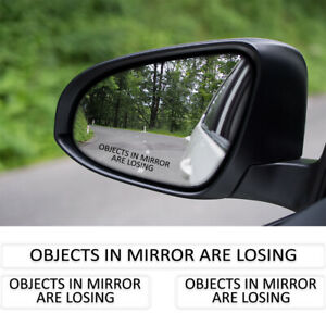 OBJECT IN MIRROR ARE LOSING Clear Sticker Decal 3 Pack JDM Drift Turbo Rally