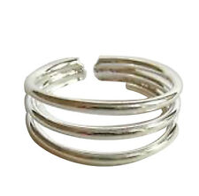 Ring ! Brand New ! Sterling Silver (925) Adjustable Hoops Toe