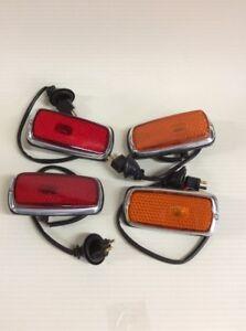 Late Side Marker Lights Set Fits w108 109 w111w113  w114 115 w123 BMW 2002 1800