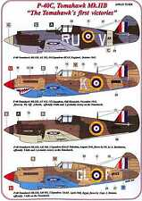 AML Models Decals 1/72 CURTISS P-40C TOMAHAWK Mk.IIB First Victories w/Resin Set