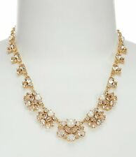 Kate Spade Posy Petals Faux Pearl and Crystal Flower Necklace, NWT $178