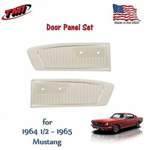White Vinyl Door Panels for 1964 1965 Mustang by TMI - Made in the USA