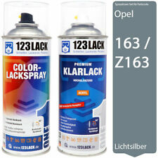 Autolack Lackspray Set Opel 163 / Z163 LICHTSILBER + Klarlack