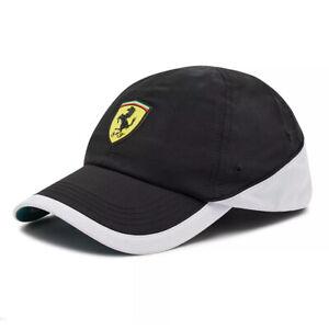 Scuderia PUMA Ferrari Unisex Adults Adjustable Black Baseball Cap