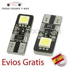 2 X BOMBILLAS LED COCHE CANBUS T10 2 SMD 5050 MATRICULA POSICIÓN NO ERROR BLANCO