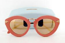 New KAREN WALKER Sunglasses LUNAR FLOWERPATCH KW Handmade 1601444 ROSE PINK