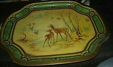 Baret Ware Tray: deer, birds, and trees!