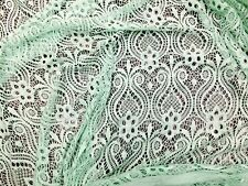 """NEW Soft mint Floral Small Stretch Lace, 60"""" inch, sold by the yard"""