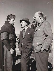 """CHARLTON HESTON during """"EL CID"""" footage 1961 B&W 8x10 Candid Photo by LUENGO"""