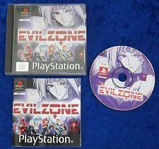 Evil zona, ps1, PLAYSTATION 1 gioco, scatola originale e istruzioni