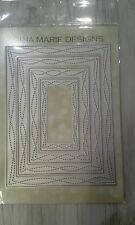Gina Marie designs metal cutting dies - Wonky stitched rectangle die set