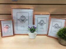 """6x Rose Gold 6""""x8"""" Document Certificate Photo Picture Glass Frame Bulk Lots"""