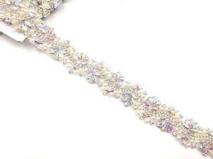 11'' Pearl Bridal Belt Rhinestone Wedding Sash Belt ,silver Ab Wedding DressTrim