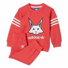 adidas Originals Baby Girls Pink Tracksuit Animal Gift Set 6 - 9 Months 12-18 Months