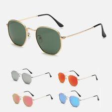 occhiali da sole uomo donna vintage hexagonal esagonali specchiati retrò 2018