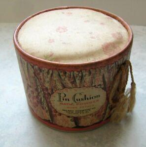 "Vintage PIN CUSHION Bath Powder by MILADY COSMETICS  ""ROSE PETALS"""