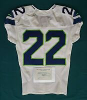 Seattle Seahawks Blank #22 Team Issued Worn Road Jersey with COA - SA 09275