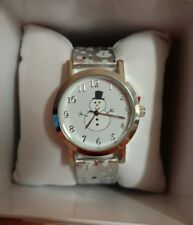 MIXIT Snowman Silver Tone Cute Holiday Watch Women's faux leather JCpennys NEW!
