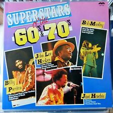 VARIOUS ARTISTS 2XLP SUPERSTARS OF THE 60'S AND 70'S 1981 ITALY VG++/VG++