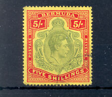 BERMUDA SG 118b GVI 5/- LINE PERF. USED