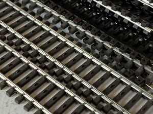 "Marklin HO 2100 K Track Straight Length 1/1 = 180 mm / 7-3/32"" LOT x10 MK-20"