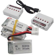 4pcs 3.7V 300mAh 25C LiPO Battery 602030 JST plug for UFO JJRC H11C RC FPV Drone