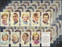 GALLAHER-FULL SET- SIGNED PORTRAITS OF FAMOUS STARS (48 CARDS) - EXC