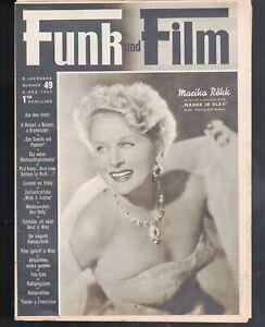"""FUNK UND FILM 49 v. 6.12.1952 / MARIKA RÖKK, """"DON CAMILLO & PEPONE"""", PETER LINO"""