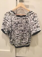 Robert Rodriguez White And Black Top Size 0 NWT