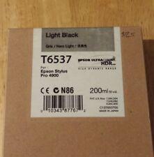 12-2014 New Genuine Epson T6537 200ml Light Black Ultrachrome HDR Ink 4900