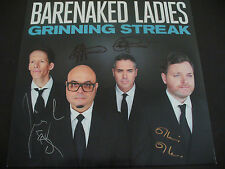 """Barenaked Ladies In Person Signed """"Grinning Streak"""" Vinyl Cover W/LP+Proof+COA"""