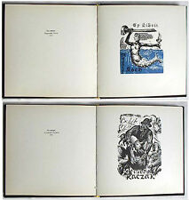 Numbred HAND SIGNED Book RUSSIAN ART BOOKPLATES Exlibris LATVIA PETERIS UPITIS