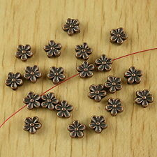 50pcs copper-tone plum flower spacer beads h2367