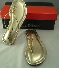 "Woman's Metallic Gold Sandals by Pierre Dumas ""Artichoke"" NEW Free Shipping"