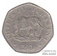 Tansania KM-Nr. : 27 1992 sehr schön Stahl, vernickelt 1992 20 Shillings Elefant
