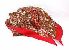 """ECHO """"CLUB 7"""" Neck Scarf, Floral Pattern with red border 6.5"""" x 60"""""""