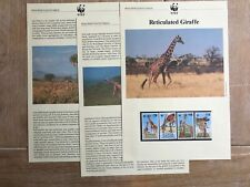 KENYA 1989 PAGES x 3 WWF RETICULATED GIRAFFE ANIMAL FAUNA