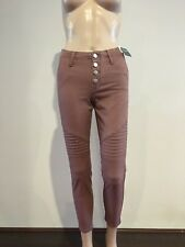 Abercrombie & Fitch Womens Brown Red Military Skinny Ankle Jeans Pants 26 in NWT
