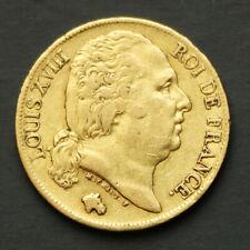 Pièce Or 20 Francs Louis XVIII Buste nu 1819 A Gold Coin France