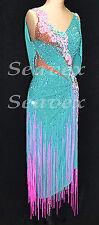 U4107 Fringing Ballroom women chacha Latin salsa samba dance dress Custom made