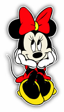 Minnie Mouse Dreams Cartoon Car Bumper Sticker Decal 3'' x 6''