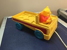 VINTAGE Winnie The Pooh Pull Toy Truck car Missing Friends